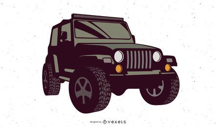 Wrangler Jeep Illustration