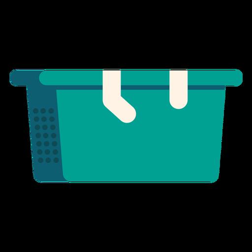Icono colorido de la cesta de lavandería