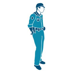 Law cop policeman illustration