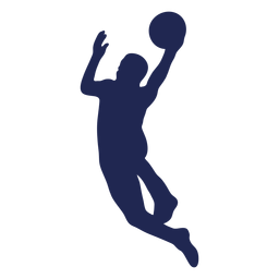 Layup basketball silhouette