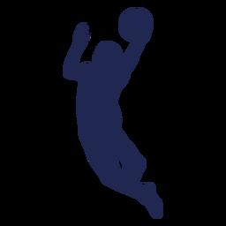 Silhueta de basquete layup