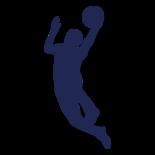 Layup silueta de baloncesto Transparent PNG