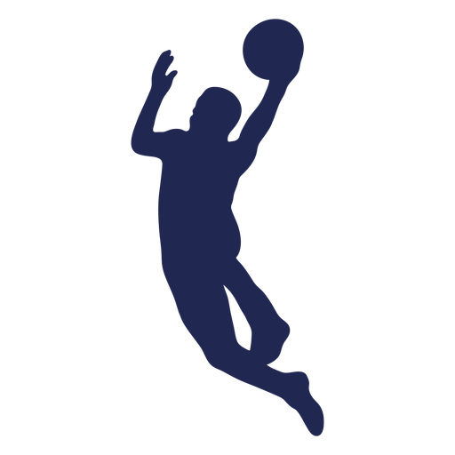 Layup silueta de baloncesto