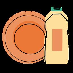 Icono de jabón líquido lavavajillas