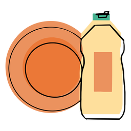 Liquid dish washer soap icon