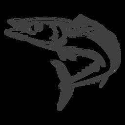 Ilustração de peixes longos do oceano