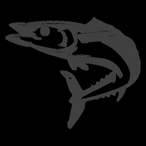Ilustración de peces de mar largo