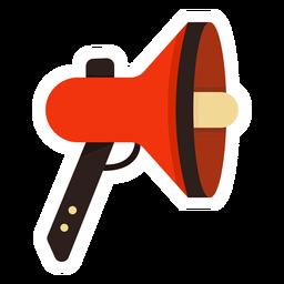 Loudspeaker megaphone colorful flat