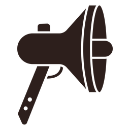 Loudspeaker megaphone flat silhouette