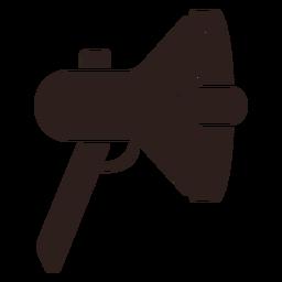 Silueta plana de megáfono altavoz