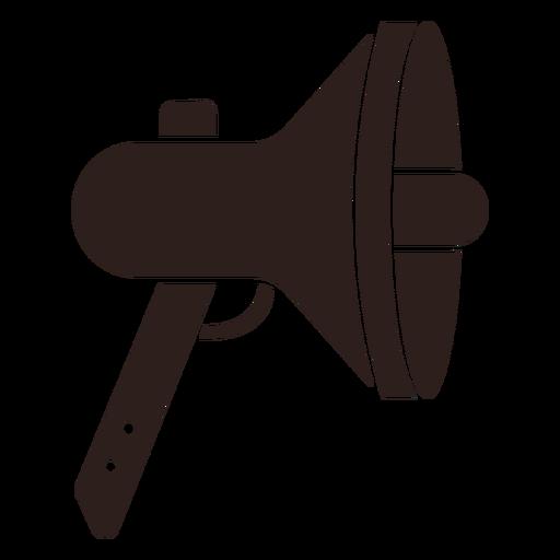 Loudspeaker megaphone flat silhouette Transparent PNG