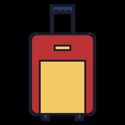 Bolsa de equipaje colorido icono trazo