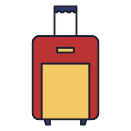 Luggage bag colorful icon stroke