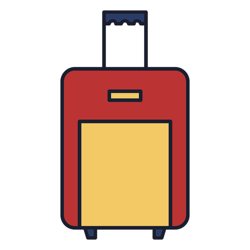 Luggage bag colorful icon stroke