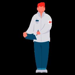 Médico de primera respuesta masculina plana