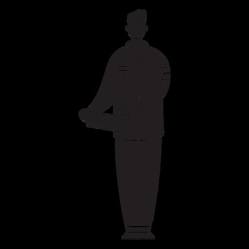 Médico de primer respondedor masculino silueta plana