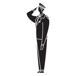 Male first responder police flat silhouette