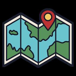 Traço colorido do ícone da localização do mapa