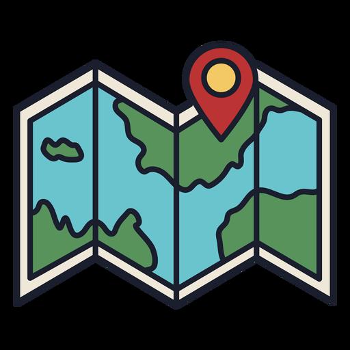 Mapa de ubicación colorido icono trazo Transparent PNG