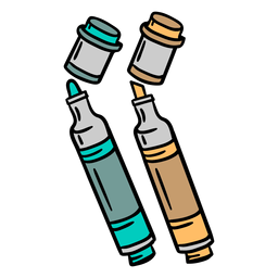 Ilustración colorida del rotulador