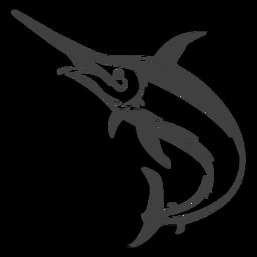 Marline fish illustration