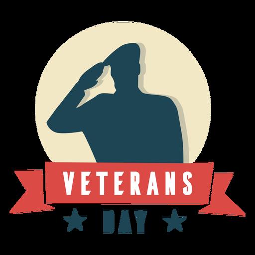 Día de los veteranos de saludo militar plano