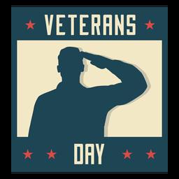 Día de veteranos militares plana