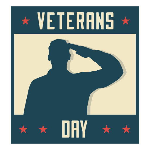 Military veterans day flat Transparent PNG