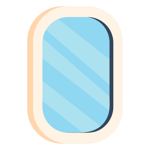 Espejo baño colorido icono