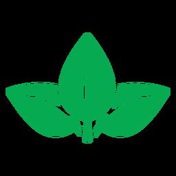 Icono de hojas verdes de la naturaleza