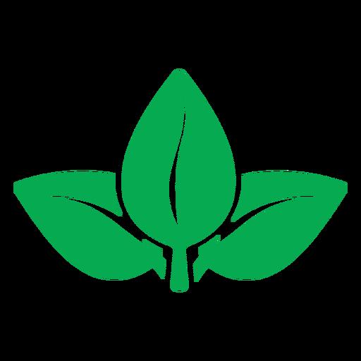 Ícone de folhas verdes da natureza