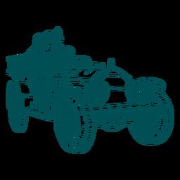 Ilustración de motor de camión de bomberos viejo