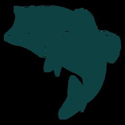 Silhueta de peixe de boca aberta