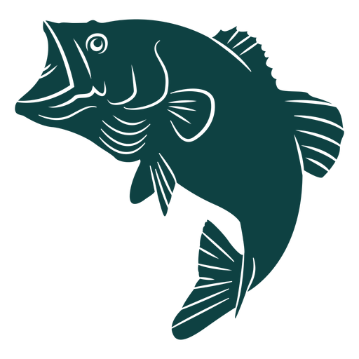 Open mouth fish silhouette Transparent PNG
