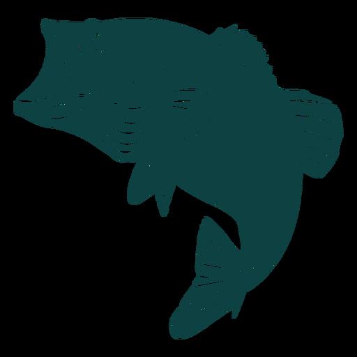 Silueta de pescado de boca abierta