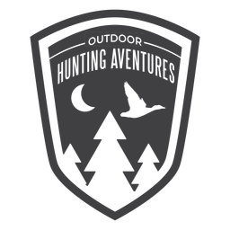 Outdoor hunting aventures badge