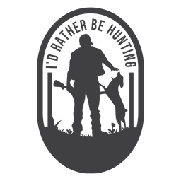 Oval hunting badge