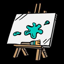 Ilustração colorida de obras de arte de pintura