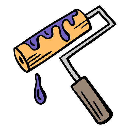 Painting roller colorful illustration