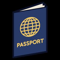 Icono de pasaporte colorido trazo