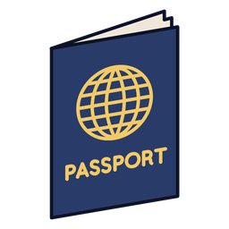 Passport colorful icon stroke