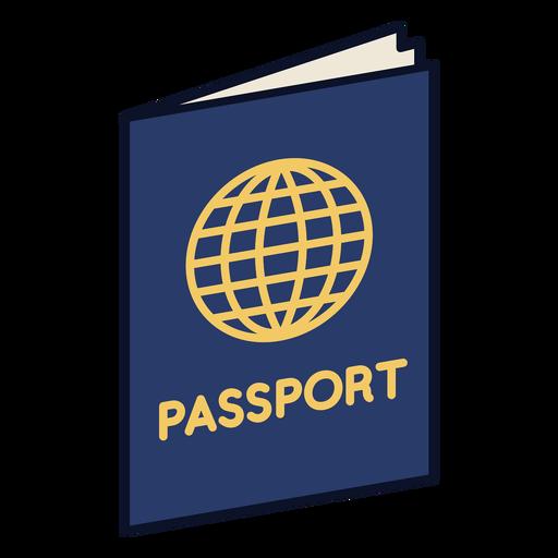 Passport colorful icon stroke