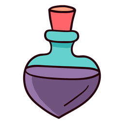 Botella de perfume colorido icono trazo