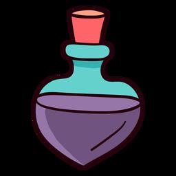 Botella de perfume colorido trazo de icono