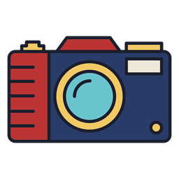 Photo camera colorful icon stroke