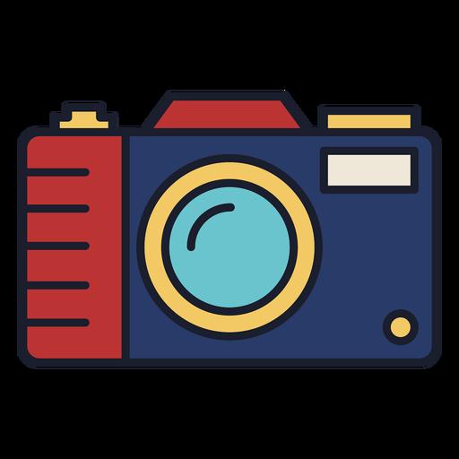 Trazo de icono colorido de cámara de foto