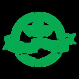 Insignia verde de energía de planta