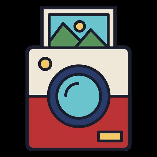 Polaroid camera colorful icon stroke