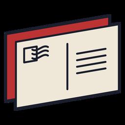 Trazo de icono colorido de carta postal