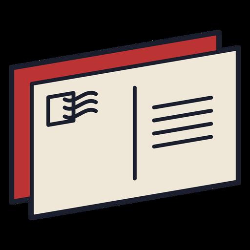 Carta postal colorido icono trazo